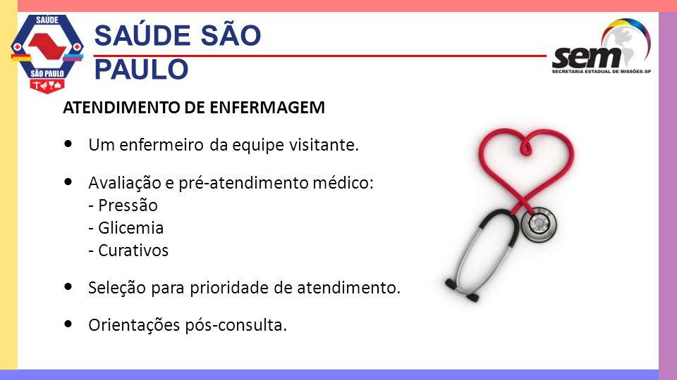 SAÚDE SÃO PAULO ATENDIMENTO DE ENFERMAGEM