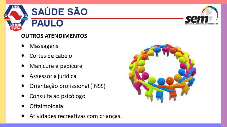 SAÚDE SÃO PAULO OUTROS ATENDIMENTOS Massagens Cortes de cabelo