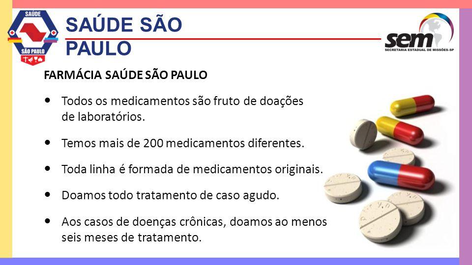 SAÚDE SÃO PAULO FARMÁCIA SAÚDE SÃO PAULO