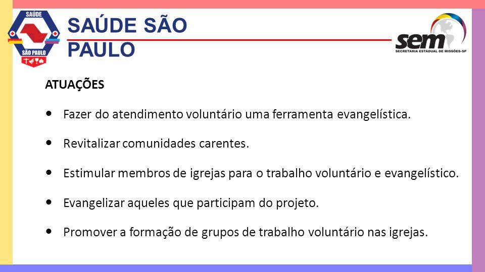 SAÚDE SÃO PAULO ATUAÇÕES