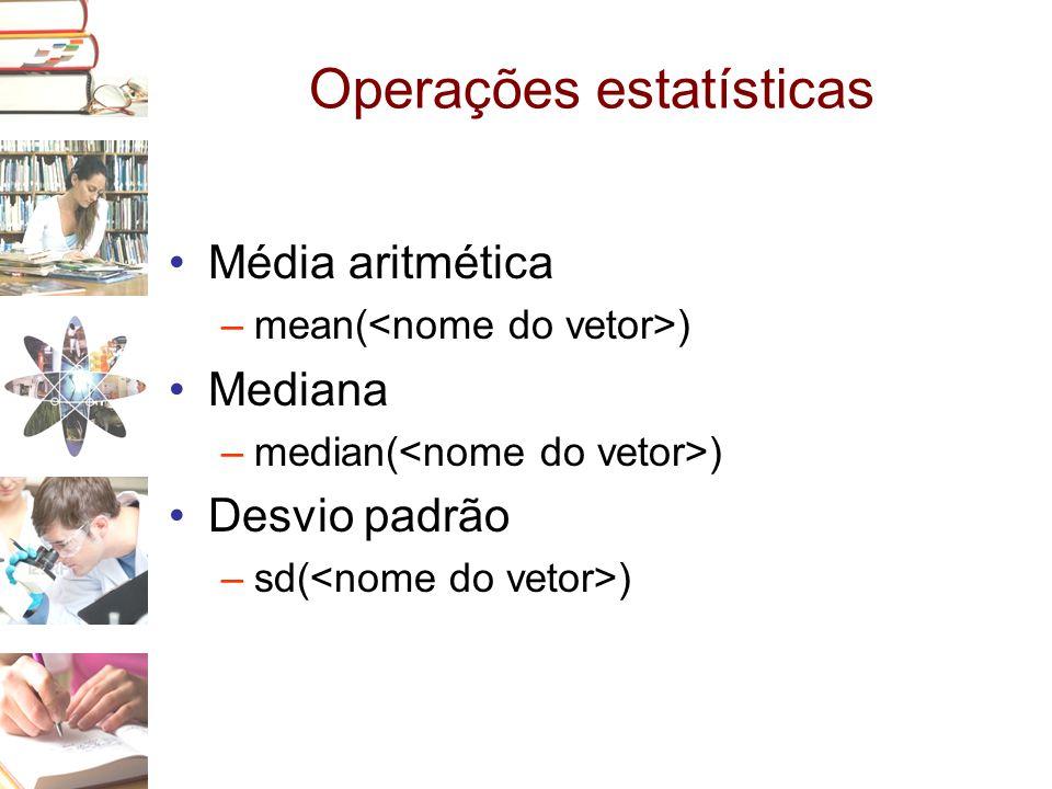 Operações estatísticas