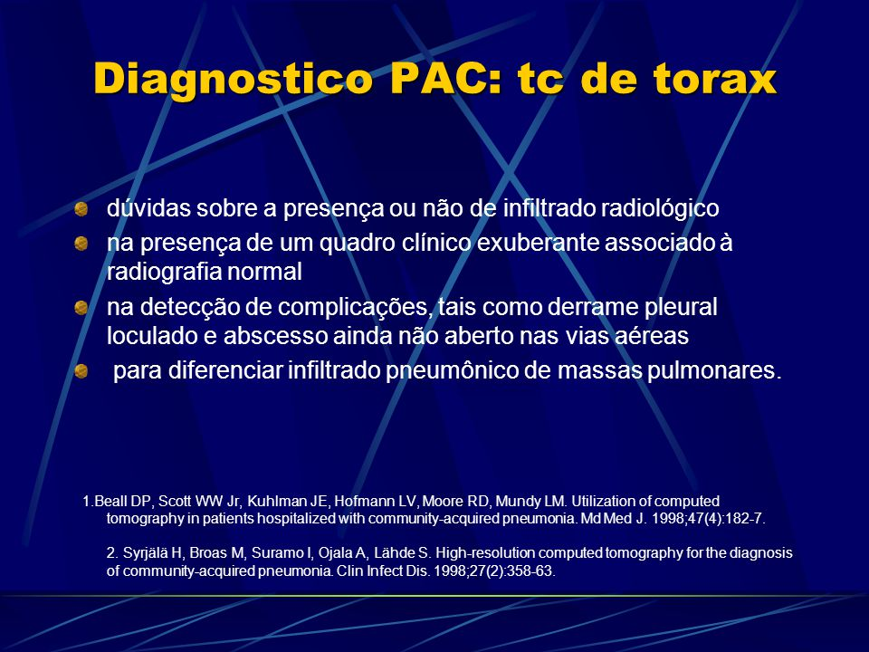 Diagnostico PAC: tc de torax
