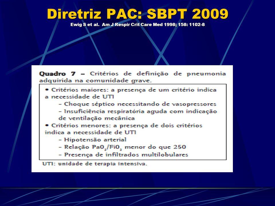 Diretriz PAC: SBPT 2009 Ewig S et al