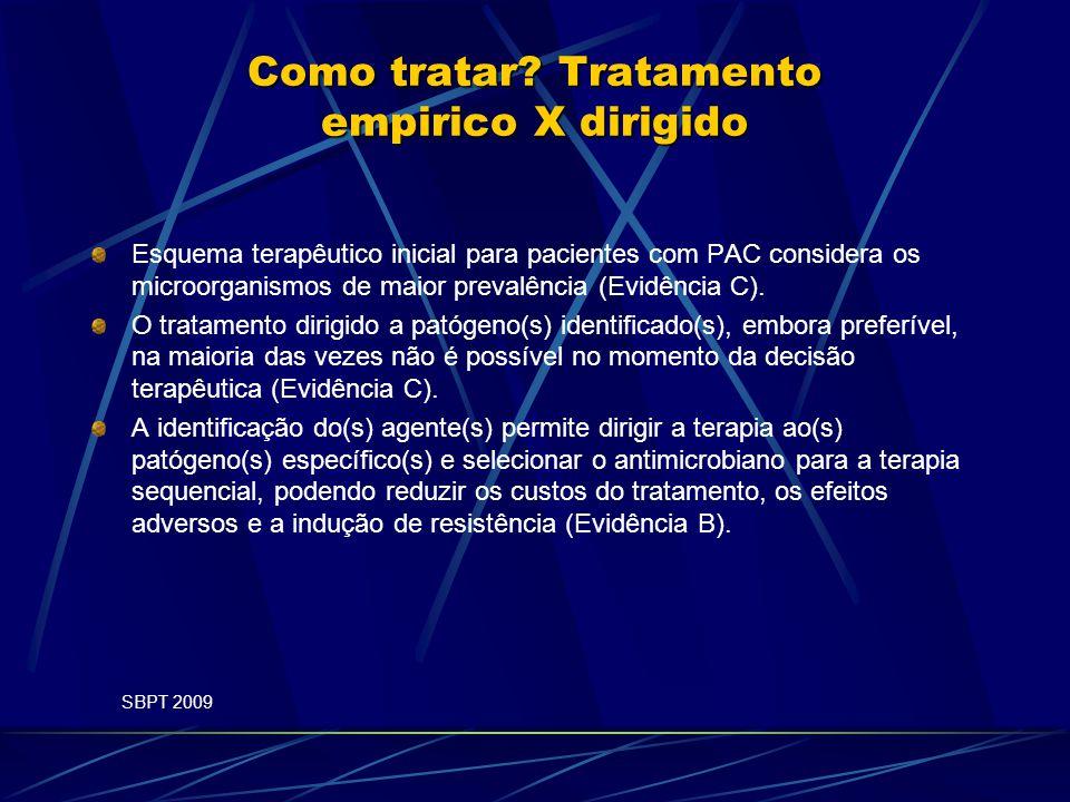 Como tratar Tratamento empirico X dirigido