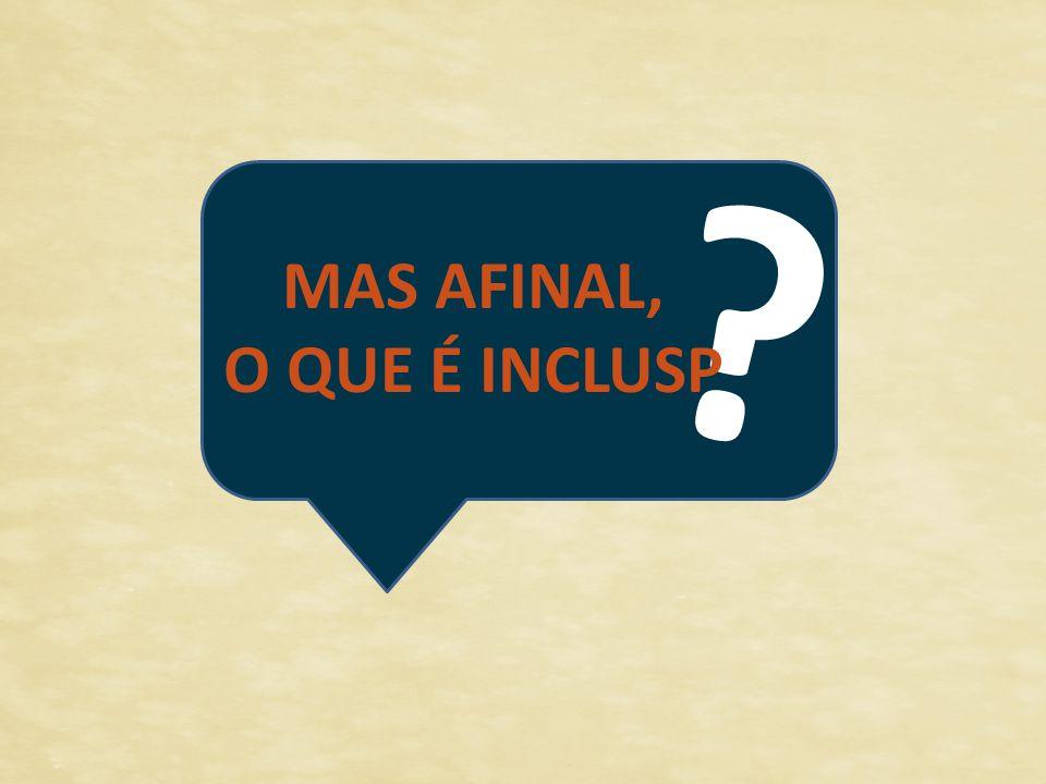 MAS AFINAL, O QUE É INCLUSP