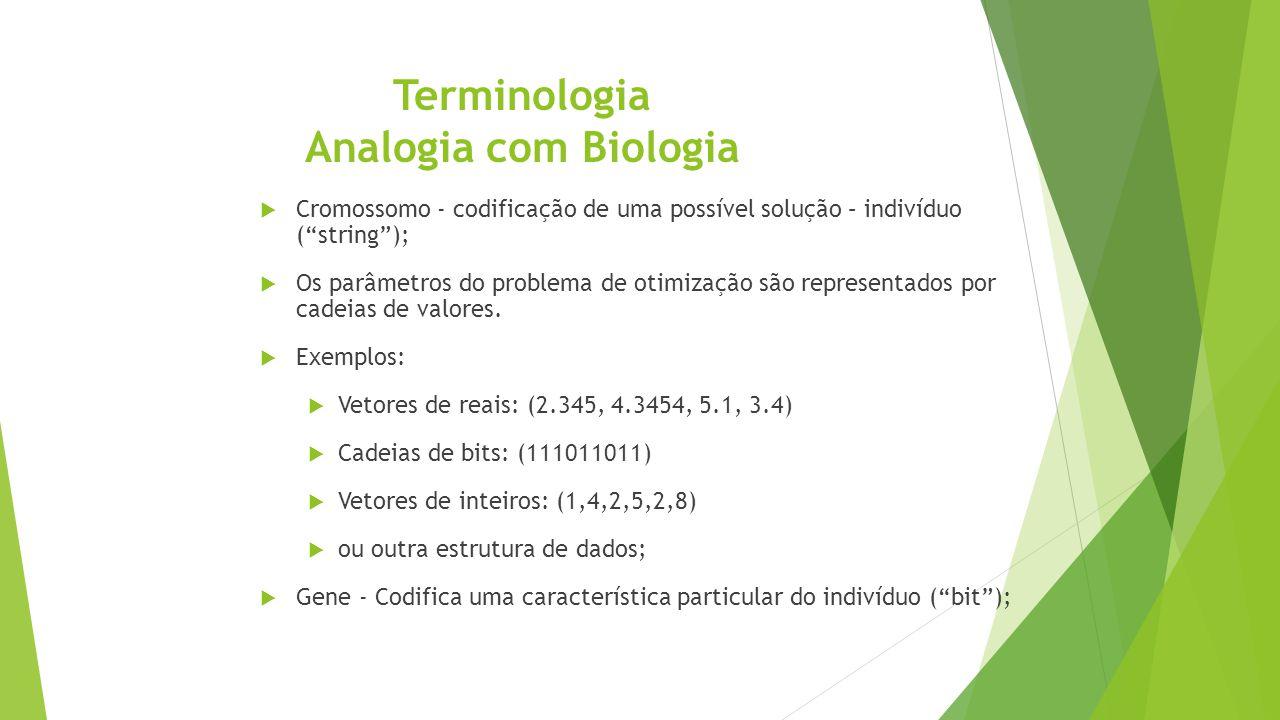Terminologia Analogia com Biologia