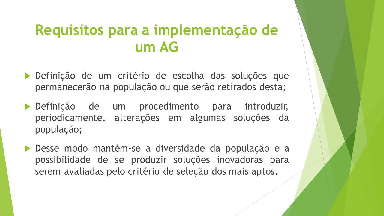 Requisitos para a implementação de um AG