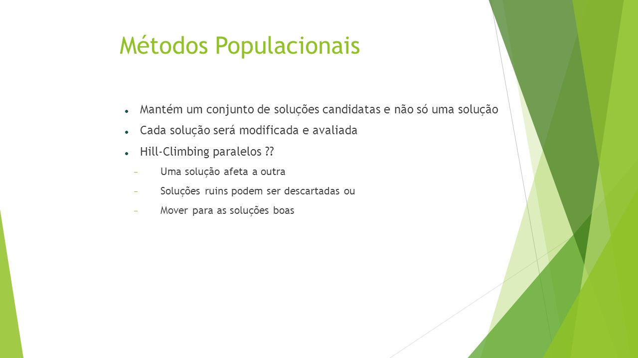 Métodos Populacionais