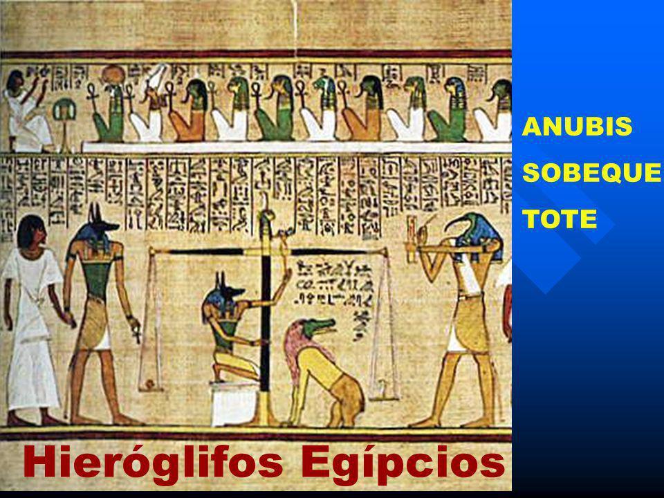 ANUBIS SOBEQUE TOTE Hieróglifos Egípcios