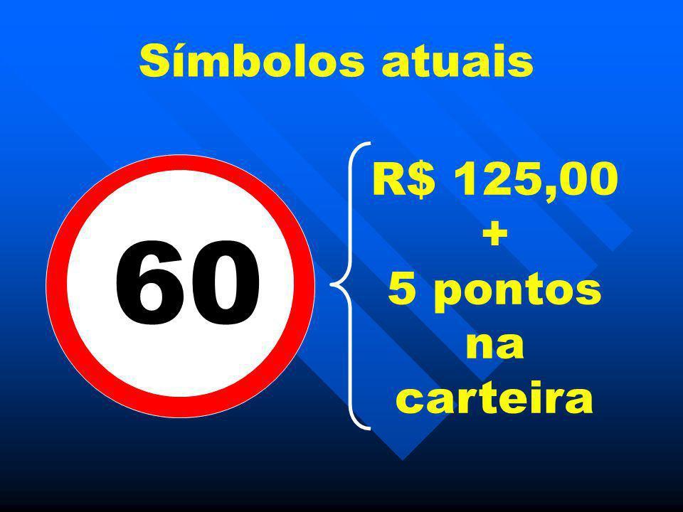Símbolos atuais R$ 125,00 + 5 pontos na carteira 60