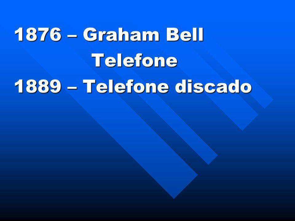 1876 – Graham Bell Telefone 1889 – Telefone discado