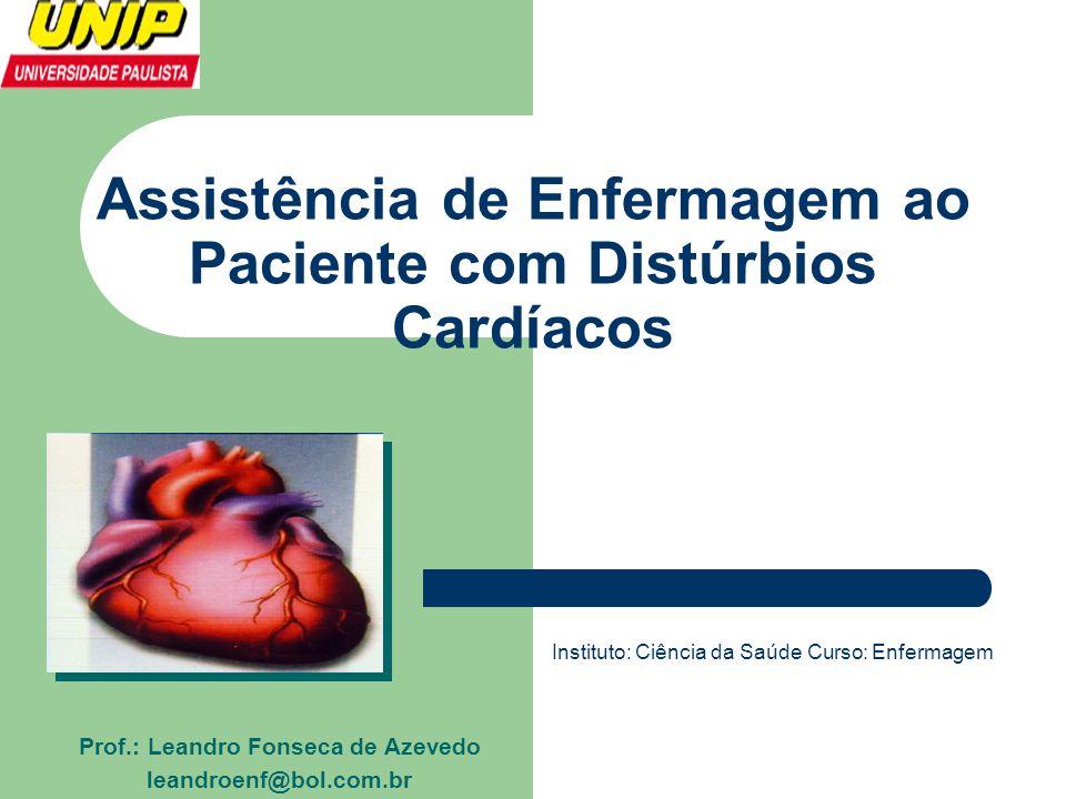 Assistência de Enfermagem ao Paciente com Distúrbios Cardíacos