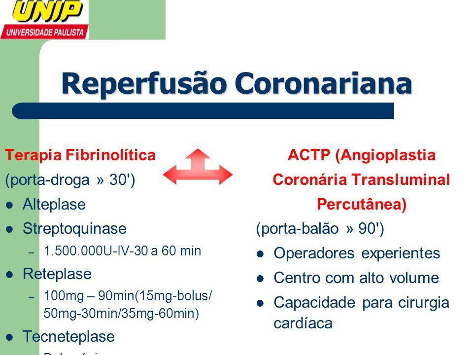 Reperfusão Coronariana Coronária Transluminal