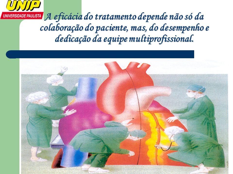 A eficácia do tratamento depende não só da colaboração do paciente, mas, do desempenho e dedicação da equipe multiprofissional.