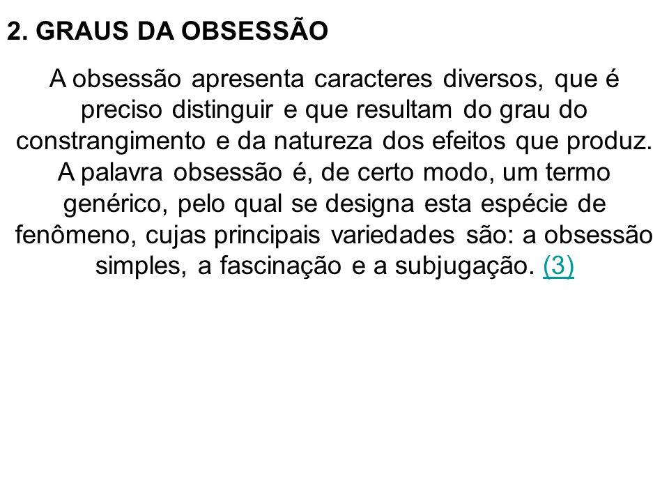 2. GRAUS DA OBSESSÃO