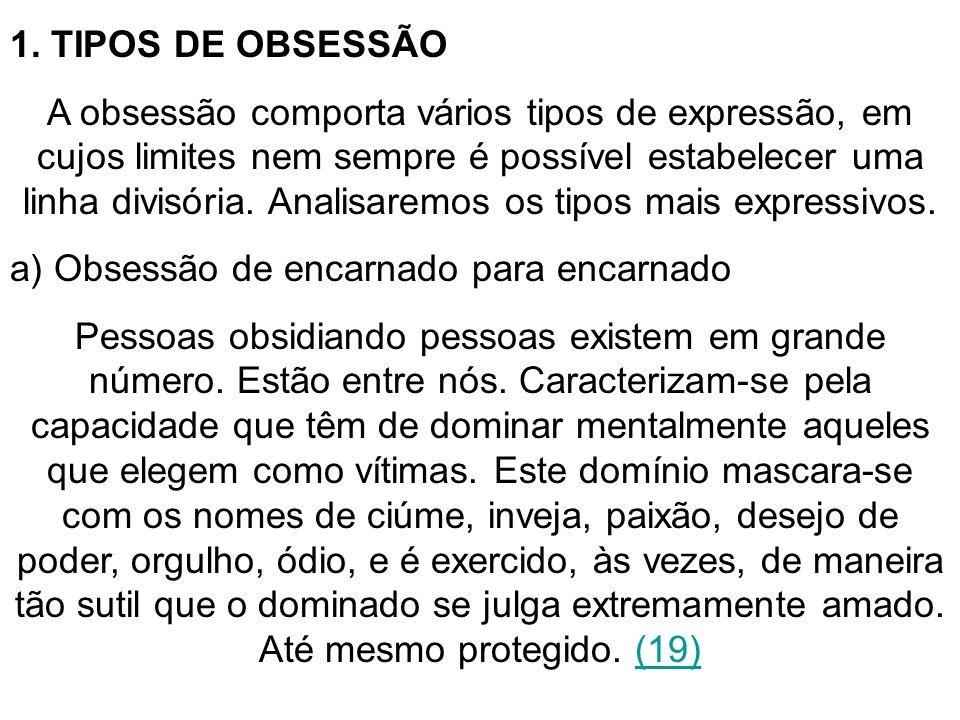 1. TIPOS DE OBSESSÃO