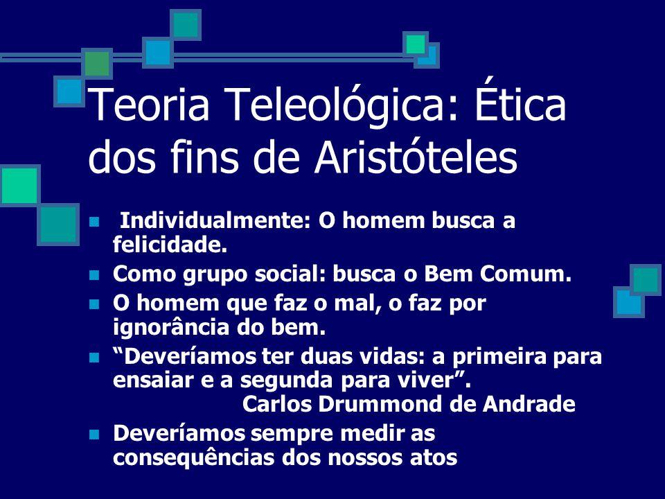 Teoria Teleológica: Ética dos fins de Aristóteles