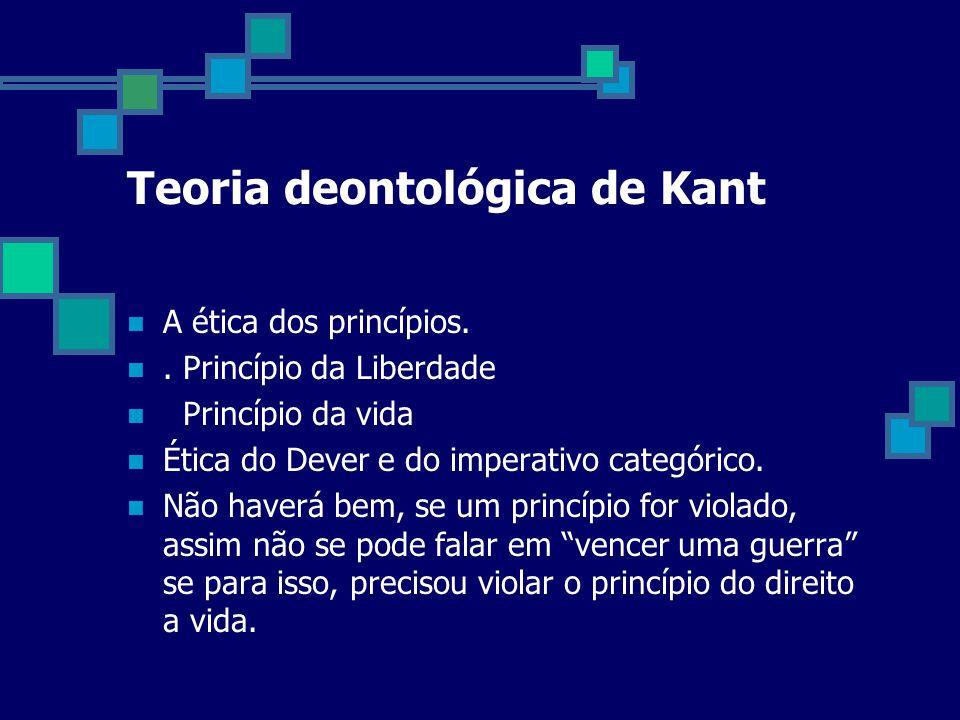 Teoria deontológica de Kant