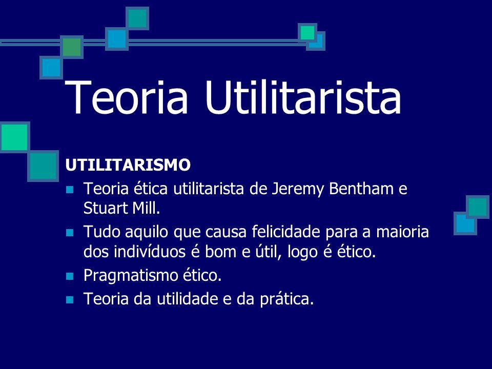 Teoria Utilitarista UTILITARISMO