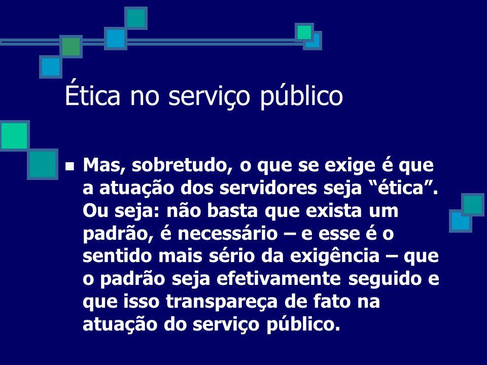 Ética no serviço público