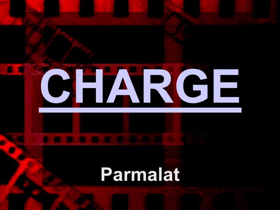 CHARGE Parmalat
