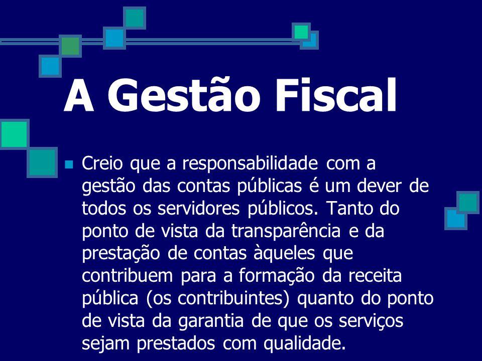 A Gestão Fiscal