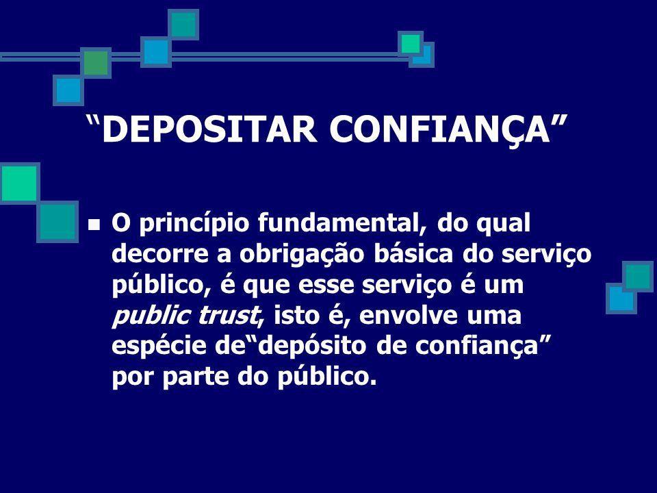 DEPOSITAR CONFIANÇA