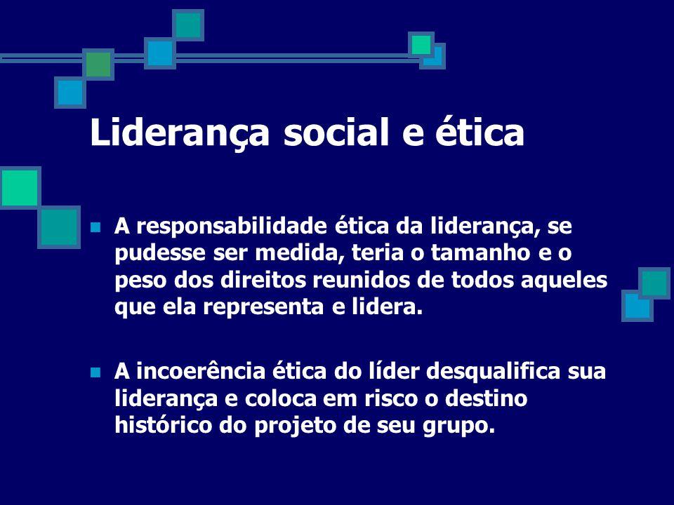 Liderança social e ética