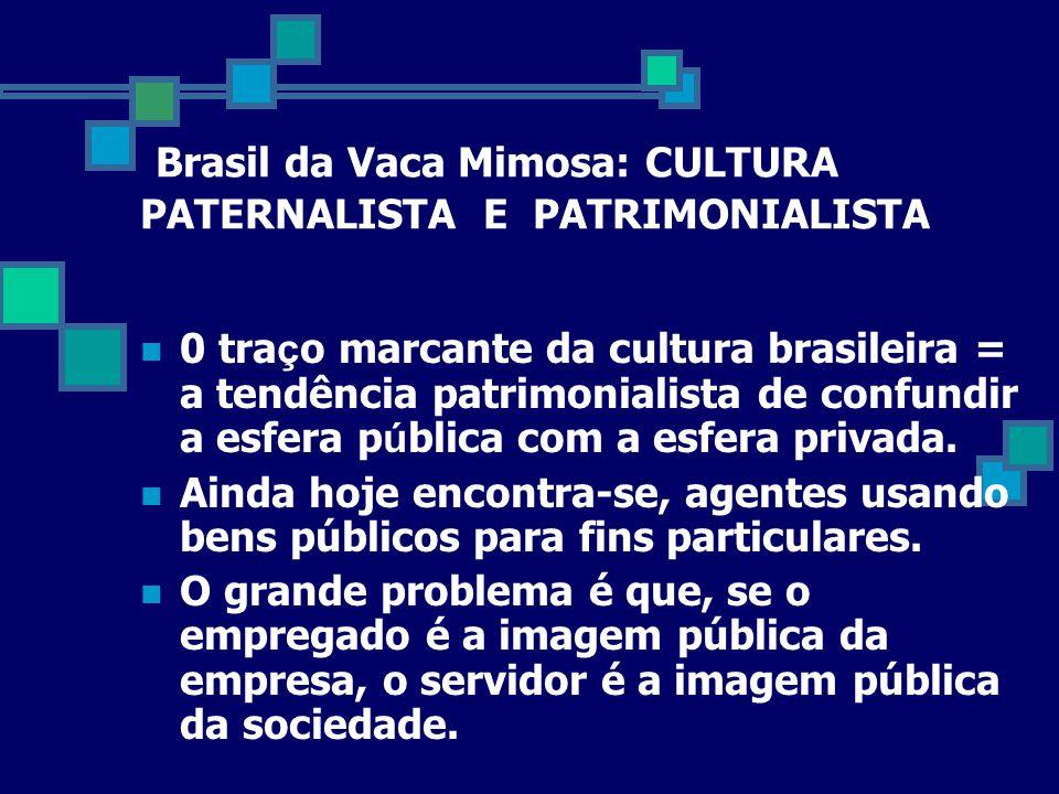 Brasil da Vaca Mimosa: CULTURA PATERNALISTA E PATRIMONIALISTA