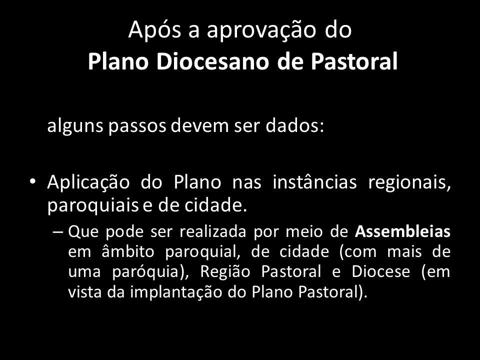 Após a aprovação do Plano Diocesano de Pastoral