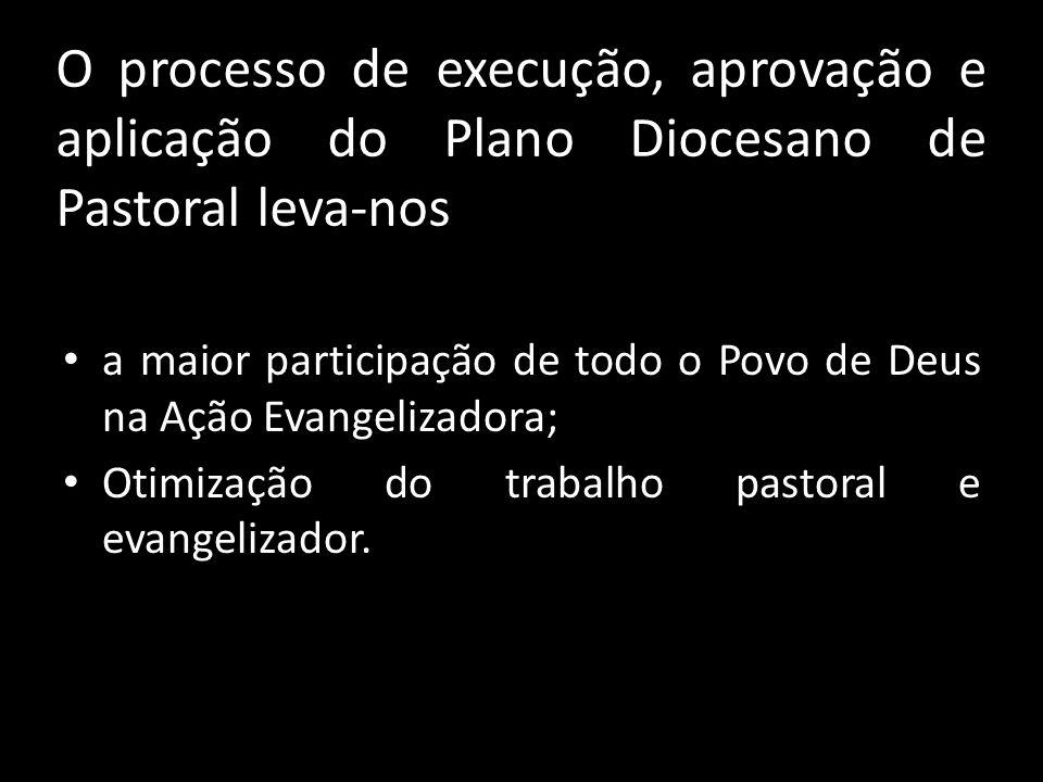 O processo de execução, aprovação e aplicação do Plano Diocesano de Pastoral leva-nos