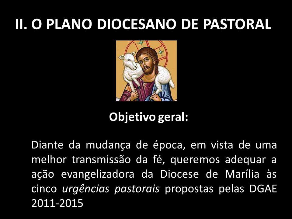 II. O PLANO DIOCESANO DE PASTORAL