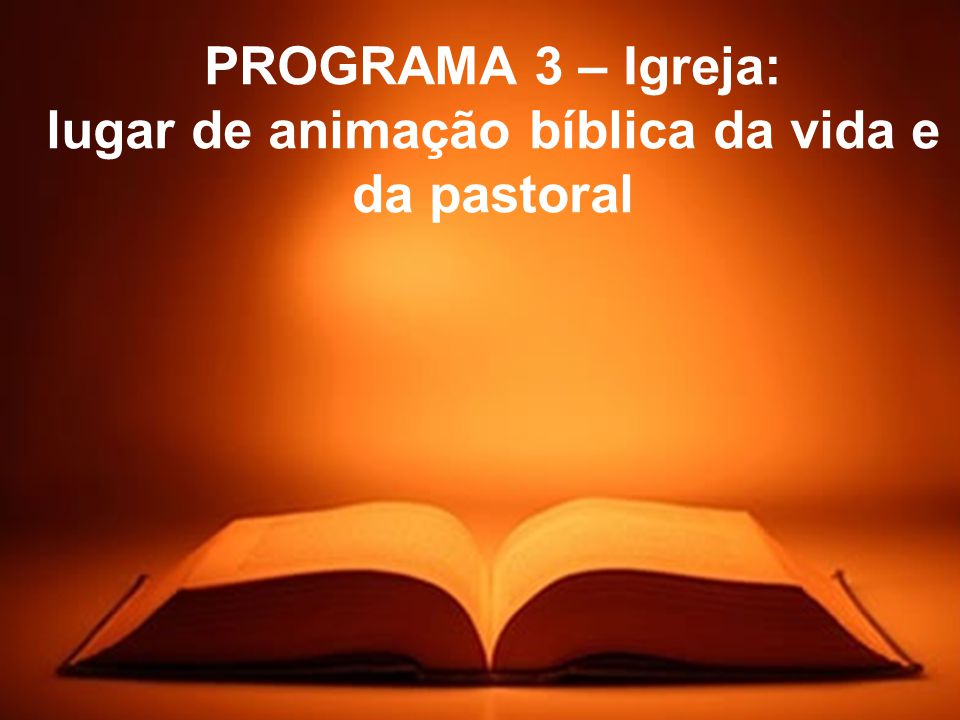 lugar de animação bíblica da vida e da pastoral