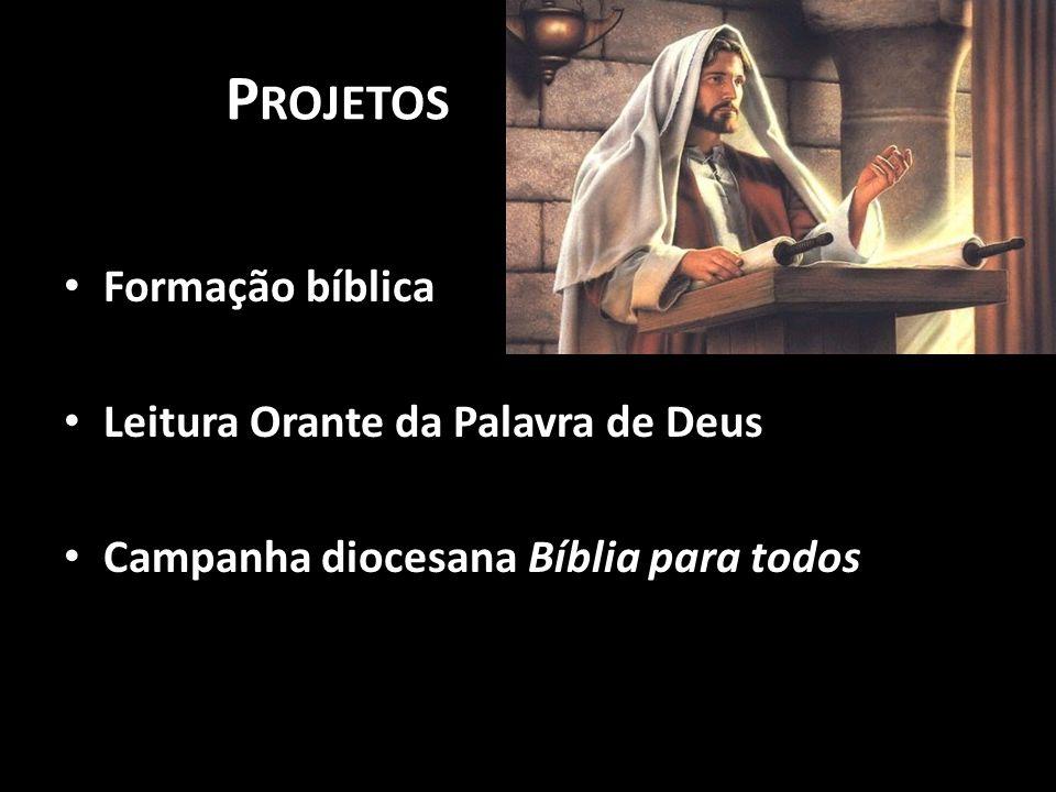 Projetos Formação bíblica Leitura Orante da Palavra de Deus