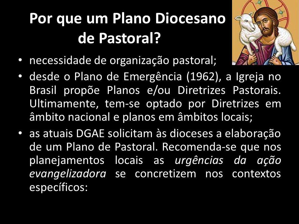 Por que um Plano Diocesano de Pastoral