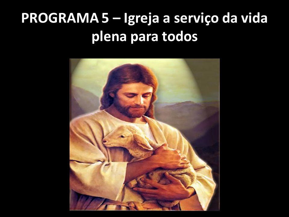 PROGRAMA 5 – Igreja a serviço da vida plena para todos