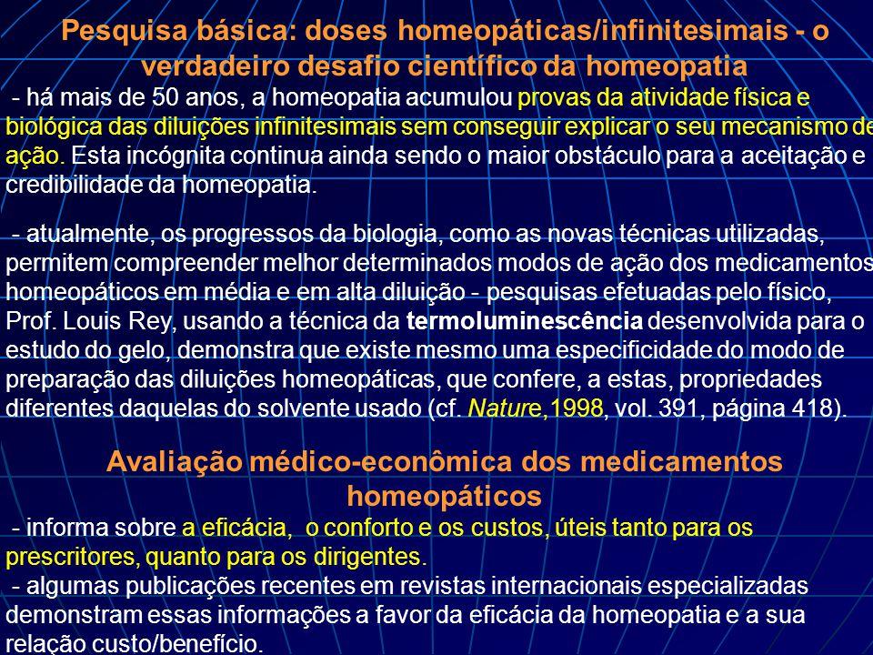 Avaliação médico-econômica dos medicamentos homeopáticos