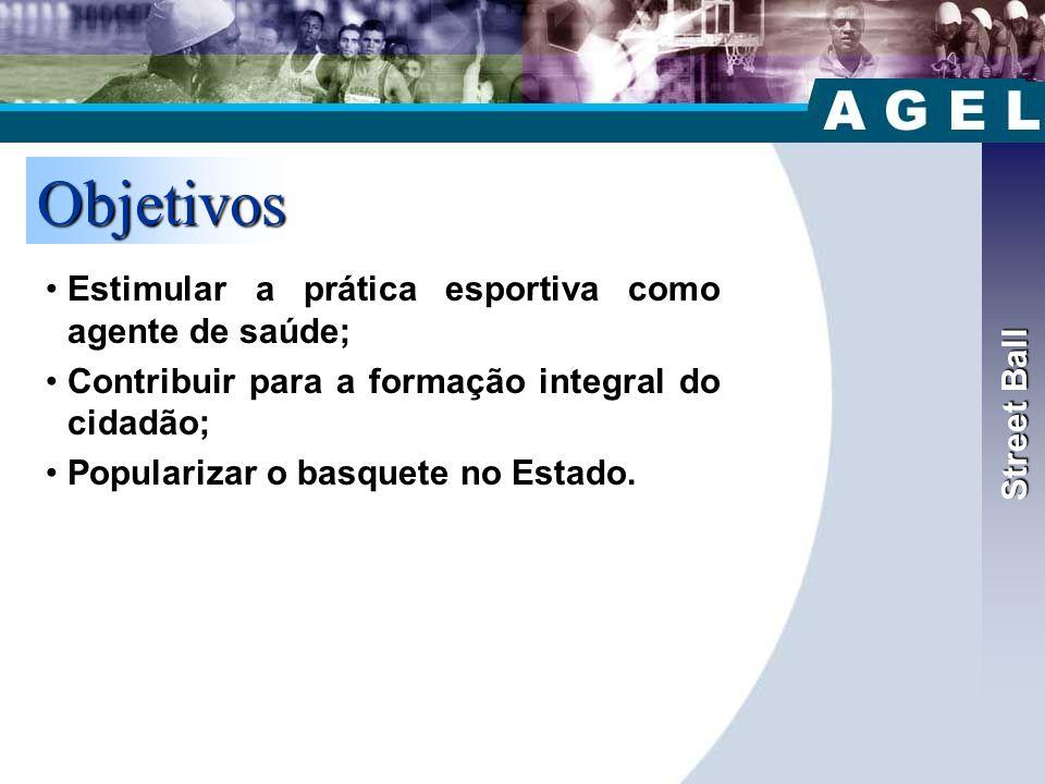 Street Ball Objetivos. Estimular a prática esportiva como agente de saúde; Contribuir para a formação integral do cidadão;