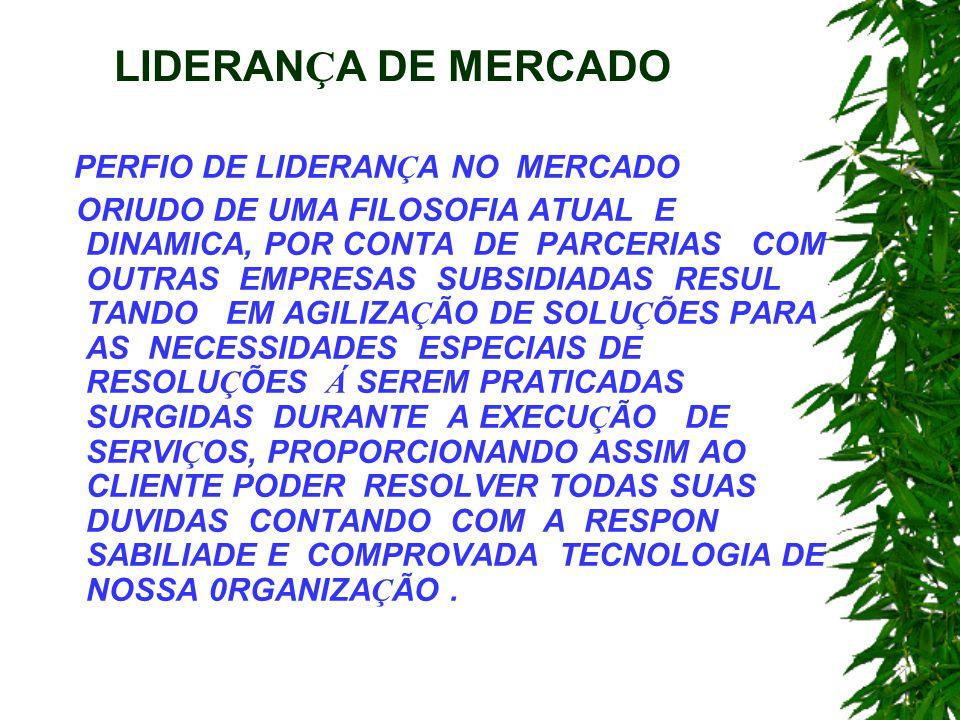 LIDERANÇA DE MERCADO PERFIO DE LIDERANÇA NO MERCADO