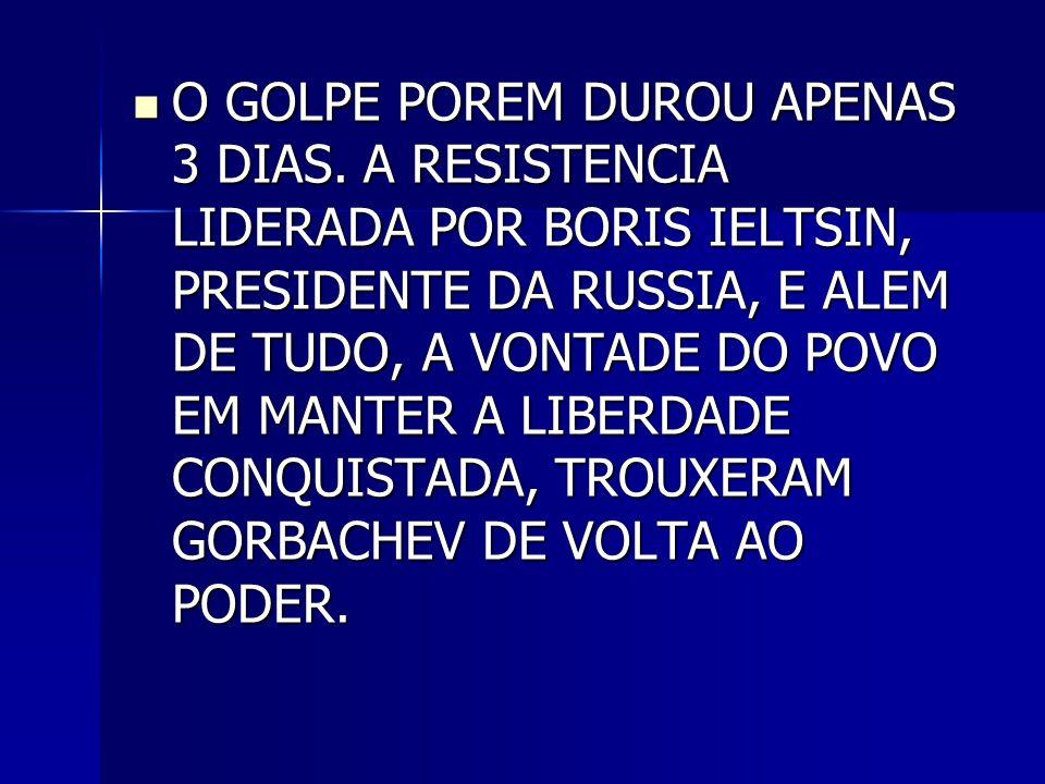 O GOLPE POREM DUROU APENAS 3 DIAS
