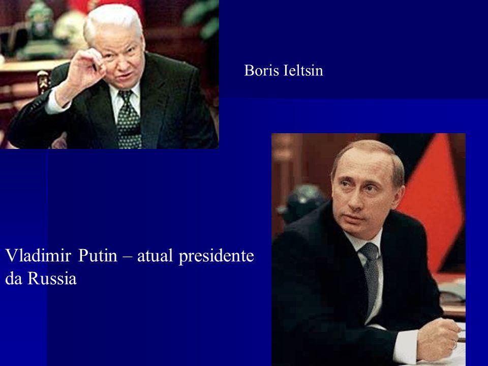 Vladimir Putin – atual presidente da Russia