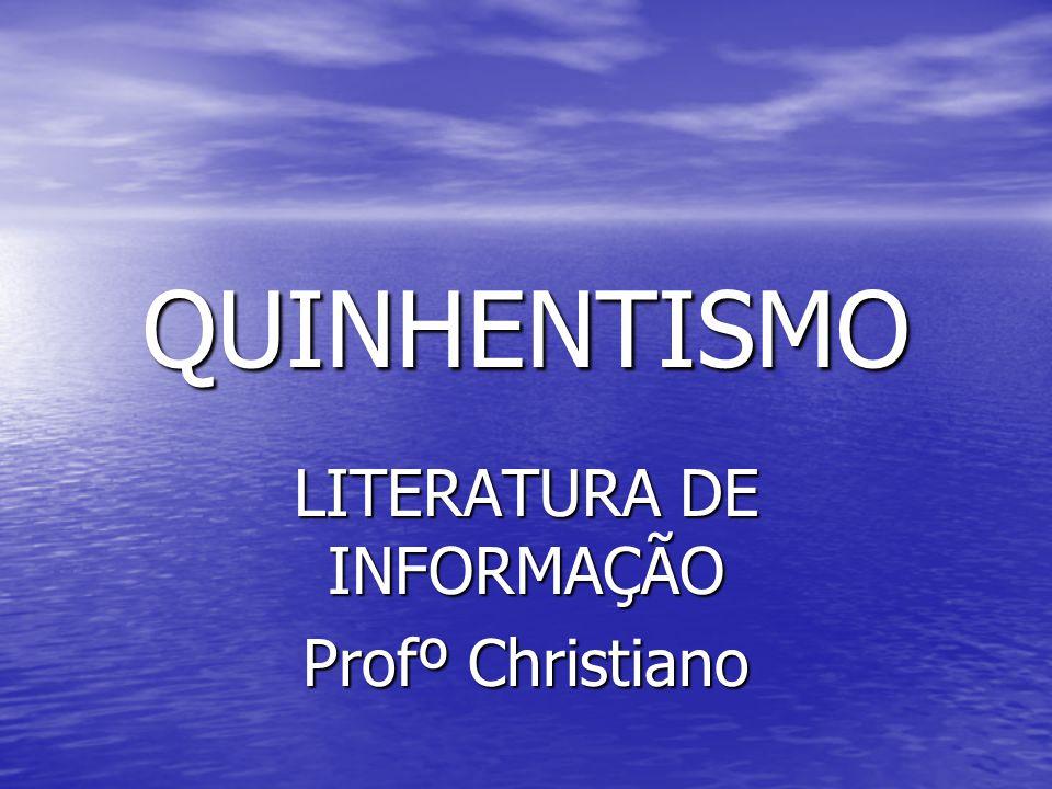 LITERATURA DE INFORMAÇÃO Profº Christiano