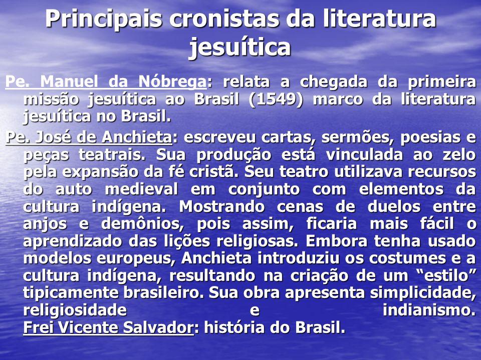 Principais cronistas da literatura jesuítica