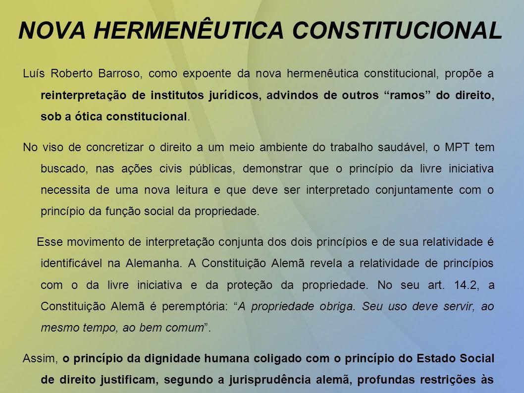 NOVA HERMENÊUTICA CONSTITUCIONAL