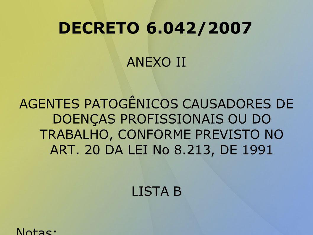 DECRETO 6.042/2007 ANEXO II.