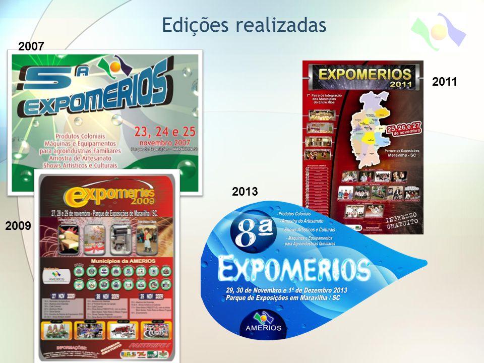 Edições realizadas 2007 2011 2013 2009