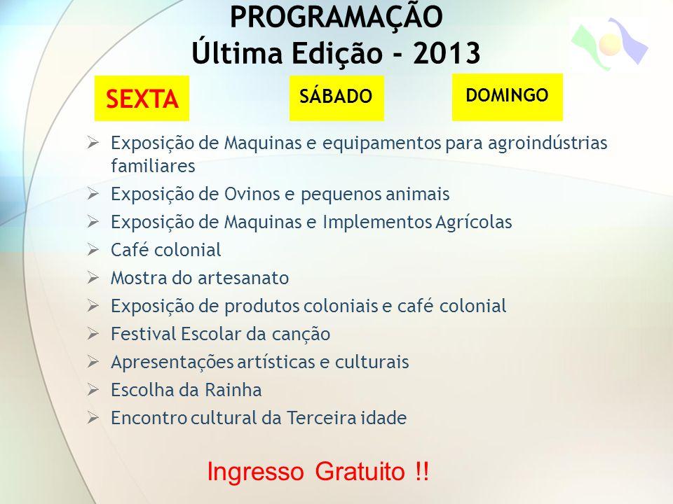 PROGRAMAÇÃO Última Edição - 2013