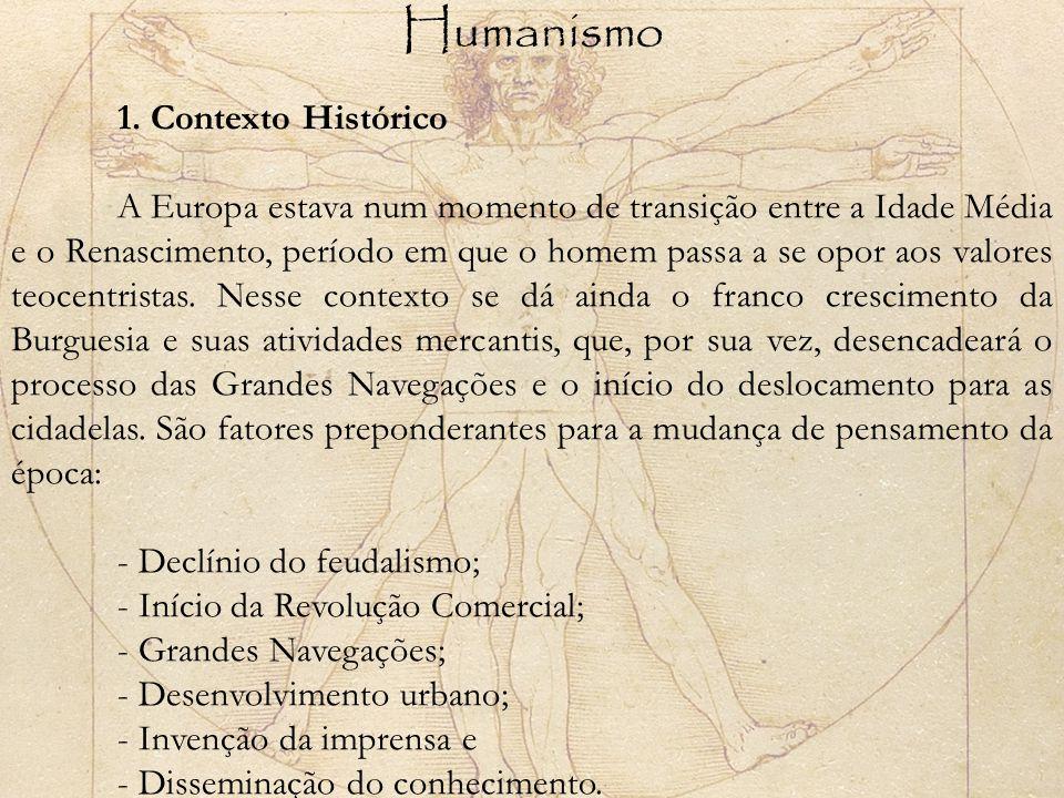 Humanismo 1. Contexto Histórico.