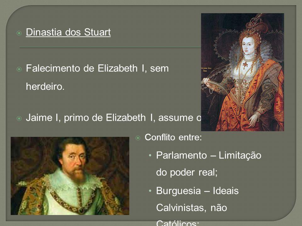 Falecimento de Elizabeth I, sem herdeiro.