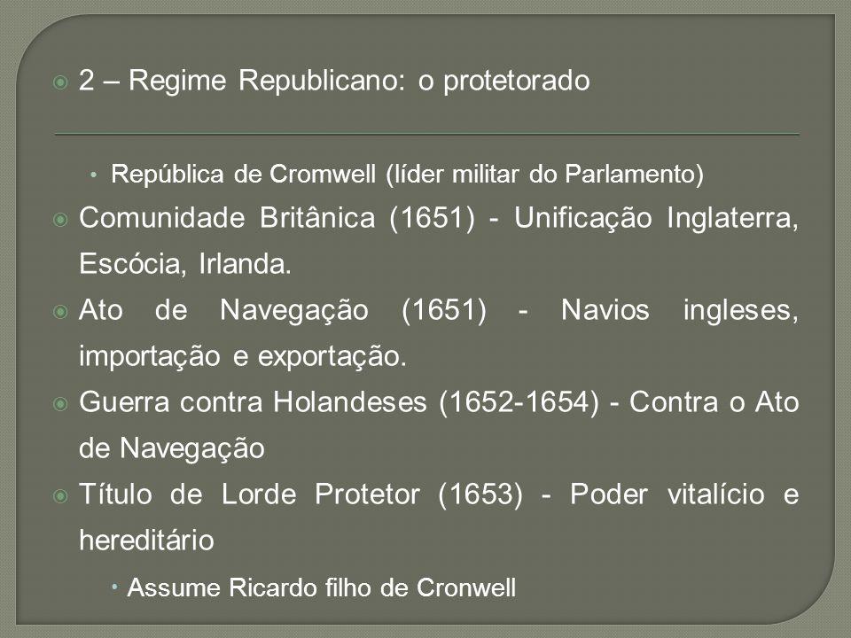 2 – Regime Republicano: o protetorado